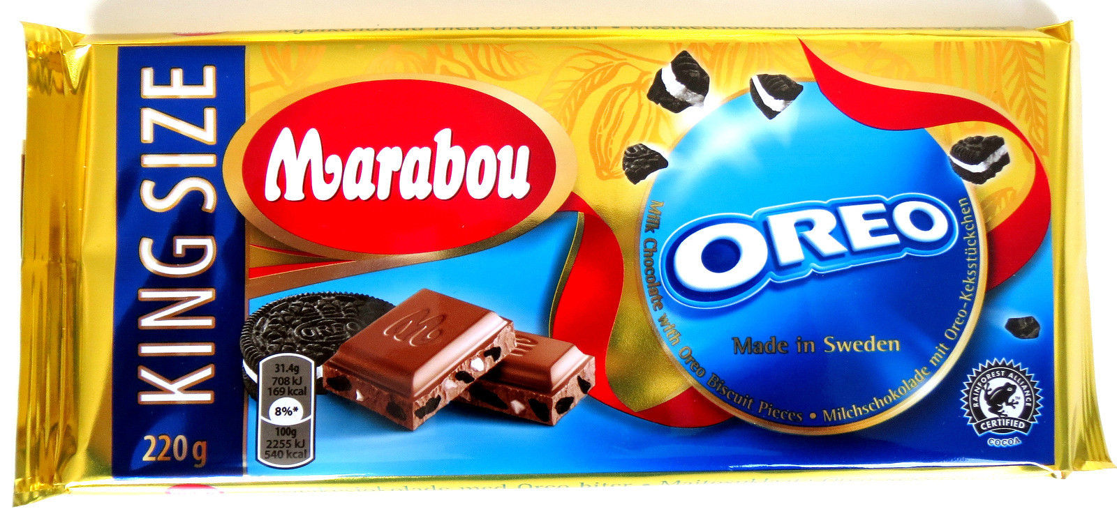 10x marabou oreo biscuit chocolate chokolad schokolade mit oreo keks 220g ebay. Black Bedroom Furniture Sets. Home Design Ideas